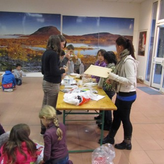 Workshop with primary school Ecole Langevin at Parc Phoenix, Nice (17.1.2014)