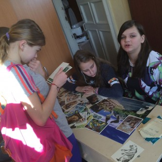 Workshop with school in Petrozavodsk